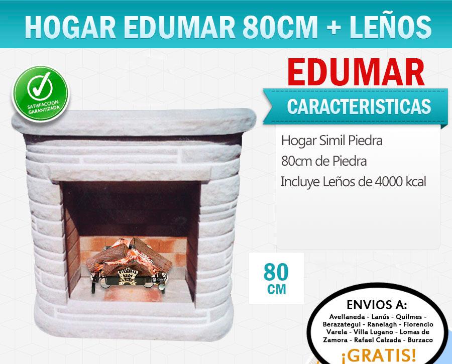 Hogar Con Le Os 4000 Calorias Edumar Piedra 80 Cm Hogarelite
